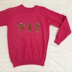 Vintage Golfing Bears Sweatshirt Sz S